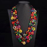 ボヘミアの民族のネックレス及び吊り下げ式のマルチ層のビードのネックレス