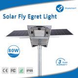 luz de rua psta solar do jardim do diodo emissor de luz 80W com painel ajustável
