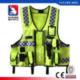 경찰 의무를 위한 포켓 지퍼 사려깊은 높은 시정을%s 가진 실용적인 안전 조끼