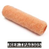 Coperchio del rullo di vernice acrilica del tessuto del poliestere con la riga nera striscia (TPA0305)