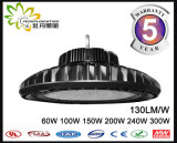 Cer RoHS anerkanntes 130lm/W UFO LED Highbay helles 150W, industrielle Beleuchtung UFO-LED, industrielle Hig Bucht-Beleuchtung LED-