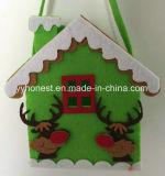 Tecido de Decoração de Natal sentida Santa Candy Dom Bag para crianças