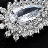 新しい方法ロジウム結婚式のためのチャーミングで贅沢なジルコンの宝石類のイヤリング