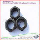 Noir en acier au carbone de haute qualité de l'écrou hexagonal