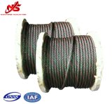 Één Kabel van de Draad van het Staal van de Bundel Kleur Gegalvaniseerde 6X37+Iwrc