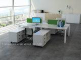 Cor branca L estações de trabalho do projeto modular do escritório da pessoa da mesa 6 da forma (HF-YZK10)
