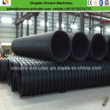 Production ondulée de pipe d'eaux d'égout de double mur de HDPE faisant la machine