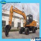 Machine de construction Excavatrice à roues hydrauliques d'équipement lourd
