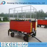 Levage mobile stable de ciseaux de remorque avec 4 pneus