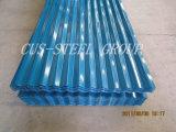 Feuille en acier ondulée de toit de feuille de toiture/en métal de couleur
