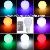 Lampe à télécommande d'ampoule de 16 couleurs RVB DEL de la haute énergie 10W E27