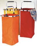 Cesta de lavanderia dobrável com cortinas colapsáveis