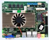 Carte mère encastrée par processeur du faisceau I3/I5/I7 avec le cadre sans ventilateur et les ports 2ethernet