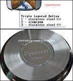 insieme dello Skillet dell'acciaio inossidabile di 6PCS 12-Element T304