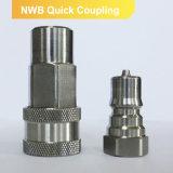 ISO 7241b de los acopladores del desbloquear rápido de la válvula del acoplador de la resistencia a la corrosión del acero inoxidable 304/316L