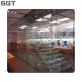 Flutuador desobstruído vidro de vidro endurecido da divisória do escritório do banheiro