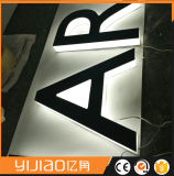 La publicité Halo de lumière arrière/lettre signer
