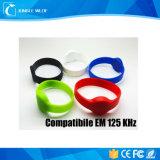 Braccialetto compatibile rotondo del silicone di Em Lf 125kHz RFID