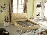 중국 공장 제조 특대 니스 연약한 가죽 실내 장식품 침대