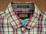 Camice tessute collare lungo del basamento del manicotto del plaid tinte filato di 100%Cotton degli uomini