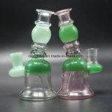 Mini pipe en verre de pipe en verre colorée pour la plate-forme pétrolière