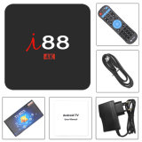 I88 TV Box con chips Amlogic S905W/2GB de RAM 16 GB de ROM apoyar Netfilx, IPTV para TV en vivo.