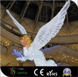 屋外および屋内彫刻の天使のモチーフライト