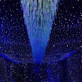 Синий и белый светодиод Star шторки на фоне оформление