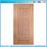 Placage en bois naturel face porte MDF moulé de la peau