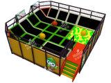 Grande cour de jeu d'intérieur de trempoline de Kaiqi avec le basket-ball, la piscine de boule, le puits de mousse ou l'arène de Dodgeball (TR137A)