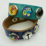 Accessori multicolori dei monili di modo del cuoio dello schiocco dei braccialetti molli all'ingrosso del tasto