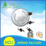 Il metallo su ordinazione della lamiera piana del fornitore della Cina ferma la molla con una graffetta per la batteria