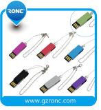 Привод вспышки USB реального металла емкости 32GB всеобщий с Keychain