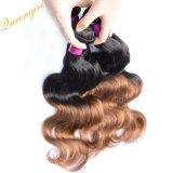 1B/4# dos tonos de Malasia de onda de cuerpo Virgen ombre de tejido de pelo Remy