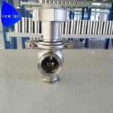 Válvula de control manual de flujo de la tri abrazadera 304 inoxidable