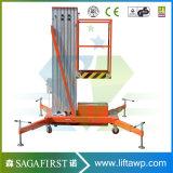 piattaforma pulita dell'elevatore della lega di alluminio della finestra di 6m