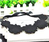 Ювелирные изделия ожерелья чокеровщика ворота сатинировки Rhinestone цветка способа кристаллический