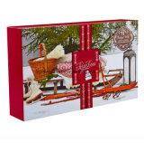 두 배 손가락으로 튀김 접을 수 있는 선물 상자를 포장하는 자석 크리스마스 스카프