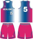 Pallacanestro completa Jersey di sublimazione della tintura di Healong qualsiasi abitudine di colore
