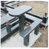 Outdoorの庭のための自然な山西Black Granite Bench