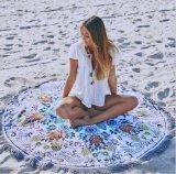 Grande involucro della spiaggia della spiaggia della manovella dal tovagliolo del pannello esterno rotondo del vestito
