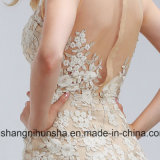 Eleganter Applique-Sleeveless Abend-Kleid-reizvolles Tulle-Abschlussball-Kleid