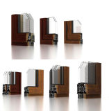Ventana de aluminio de color personalizado de gama alta.