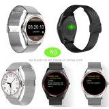 Dimagrire il telefono astuto dell'orologio di Bluetooth di disegno con il video N3 di frequenza cardiaca