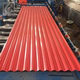 Tuile de toit galvanisée ridée par couleur en métal de Dx51d Z120