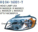 Chevrolet Aveo-T250/Lova 2007년 OEM를 위한 전송자 또는 운전사 헤드라이트 보충 96650526/96650525/96650521/96650522