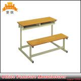 상업적인 싼 가격 나무로 되는 두 배 학교 책상 및 의자