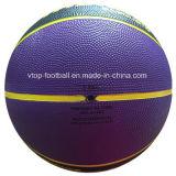 Talla material de goma negra púrpura 7 del baloncesto