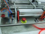 2 cabezales de alta calidad salsa neumática Máquina de Llenado sin electricidad
