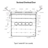 Стальная вертикальная поднимаясь дверь двери надземная секционная (HF-J68)